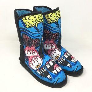 Iron Fist Eyeballing Fugly Boots Size: 6